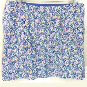 Boden Paisley Cotton A-Line Skirt